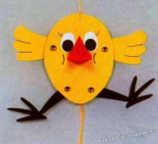 Бумажная игрушка на ниточках своими руками