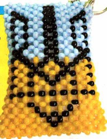 плетение бисером схема флага