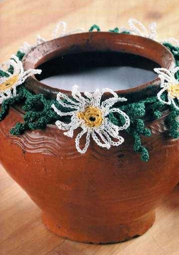 Вязание для дома вязаные цветы