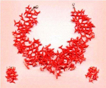 Ожерелье и серьги «Розовый