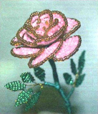 Абажур декорированный бисером.