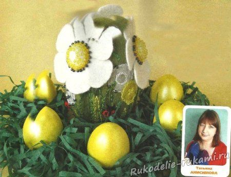 Пасхальное яйцо. Валяние