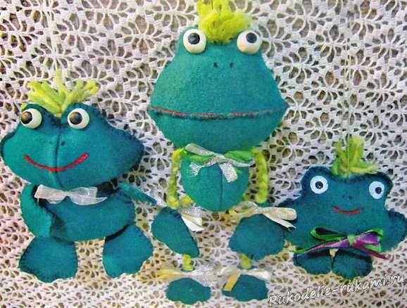 Лягушки-игрушки своими руками