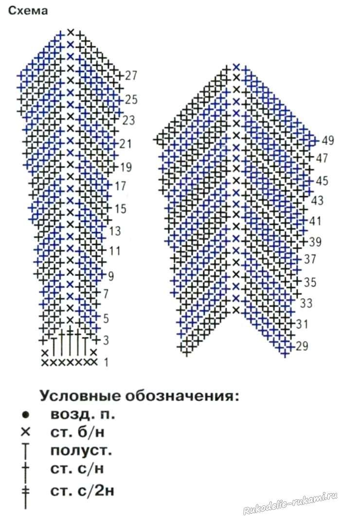 Схема галстука в полоску