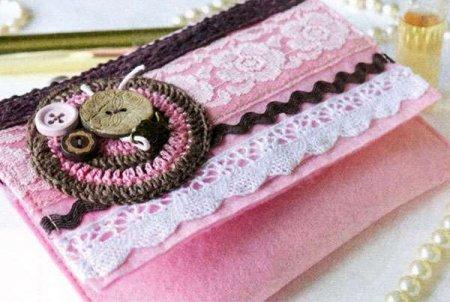 Косметичка-сумочка из фетра