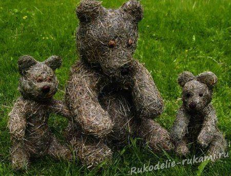 Медведи из сена