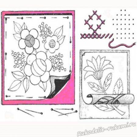 Перевод рисунка на ткань с помощью копировальной бумаги 2