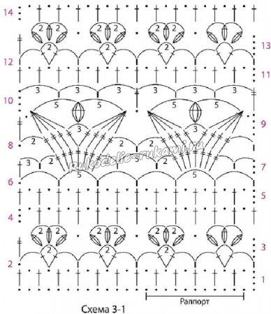 Схема 3-1 для вязания кофточки